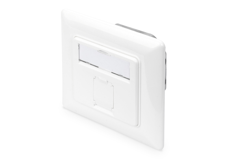 Wall Outlet 2 x RJ45 surface mount shielded DIGITUS DN-9002-N CAT 5e